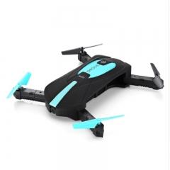 Quadrupter Mini Camera Drone Video Foldable Selfie Drone RC Drone HD FPV H37 720P RC Helicopter black+blue 0.3MP Camera