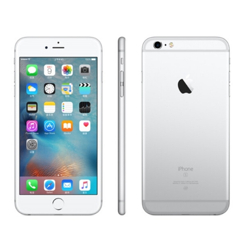Refurbished Phone Factory Price Iphone 6 -16GB+1GB -8 MP+1.2 MP- 4.7 Inch+4G network silver with fingerprints 16