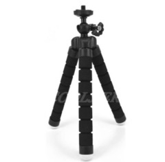 Mini Tripod With Bluetooth Remote Shutter For iPhone mini Camera Tripod Phone Holder clip stand black one siize