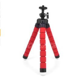 Mini Tripod With Bluetooth Remote Shutter For iPhone mini Camera Tripod Phone Holder clip stand red one siize