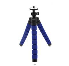 Mini Tripod With Bluetooth Remote Shutter For iPhone mini Camera Tripod Phone Holder clip stand blue one siize