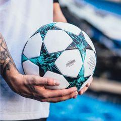 1 Set Mens Size 5 Five Football Soccer Ball And Professional Football Training Sports Socks For Men blue star