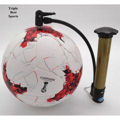 1 Set Men's Size 5 Five Football Soccer Ball And Professional FootballTraining Sports Socks For Men red ocean