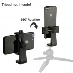 Ulanzi Tripod Mount Adapter Cell Phone Clipper Holder Vertical 360 Rotation for iPhone Samsung as picture as picture