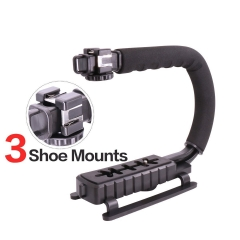 Ulanzi U-Grip pro Triple Shoe Mount Video Action Stabilizing Handle Grip Rig as picture as picture