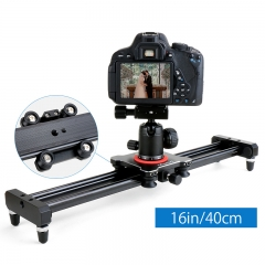 Ulanzi 40cm/15inch Aluminum Slider Camera Track dolly Rail System for Nikon Canon DSLR Smartphone as picture as picture