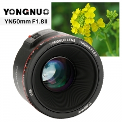 2018 YONGNUO YN50mm F1.8 II Large Aperture AF/MF Fixed Lens for Canon 800D 1200D DSLR as picture Canon bayonet