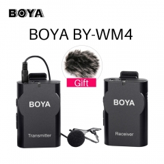 BOYA BY-WM4 Wireless Lavalier Lapel Microphone Systerm for Canon Nikon DSLR Camera for iPhone as picture as picture