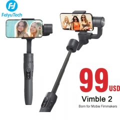 Feiyutech Vimble 2 Handheld Smartphone Gimbal 3-Axis Stabilizer for iPhone X Samsung Gopro as picture
