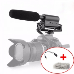 Takstar SGC-598 Condenser Microphone Interview Video Recording Camera Mic for Nikon Canon DSLR micorphone+cable adapter for smartphone as picture