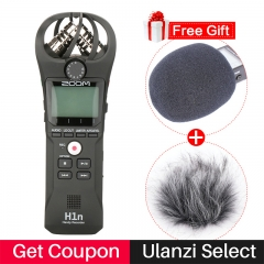ZOOM H1N Handy Recorder Digital Camera Audio Recorder Interview Recording Stereo Microphone for DSLR