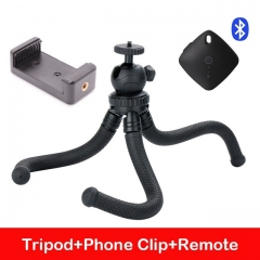 Ulanzi Flexible Octopus Smartphone Tripod Stand mini Tripod for iPhone for Canon Nikon dslr tripod with bluetooth remote as picture
