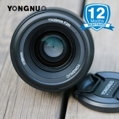 YONGNUO YN35mm 1:2 F2.0 AF/MF Lens Wide-Angle Fixed/Prime Auto Focus for Nikon DSLR Cameras 35mm for Nikon