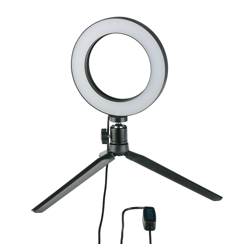 Dimmable LED Ring Light Photo Studio Video Light Annular Lamp with Tripod Makeup beauty LED+Tripod as shown 2