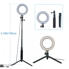 Dimmable LED Ring Light Photo Studio Video Light Annular Lamp with Tripod Makeup beauty as picture as shown