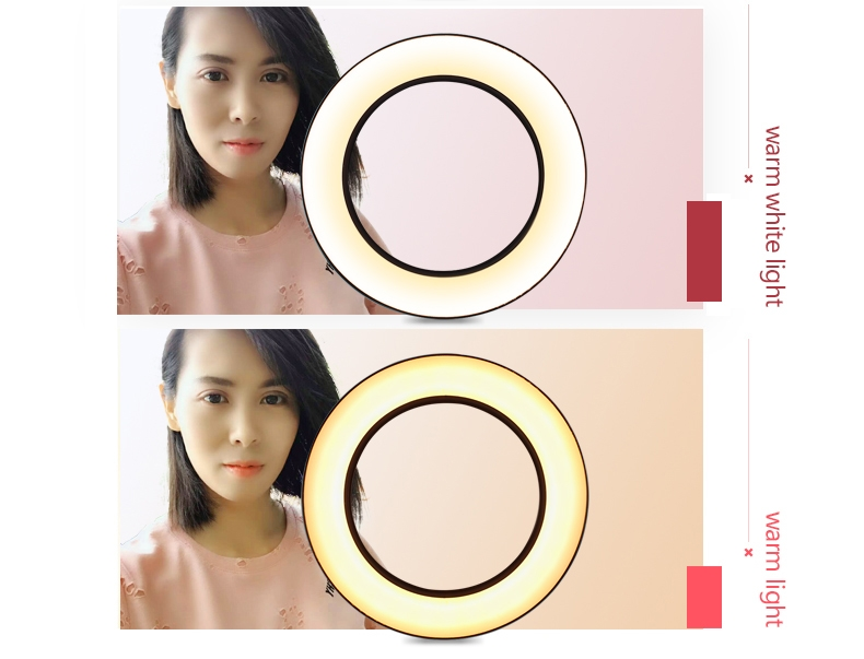 Dimmable LED Ring Light Photo Studio Video Light Annular Lamp with Tripod Makeup beauty LED+Tripod as shown 9