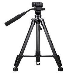 1.5m Yunteng VCT-60 Travel Tripod Monopod with 360 Fluid Video Tripod Head for SLR Camera Smartphone as picture as shown