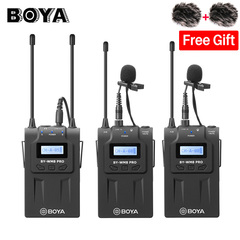 BOYA BY-WM8 Pro K2 UHF Dual Wireless Lavalier Microphone Systerm Interview Mic for DSLR as picture as picture