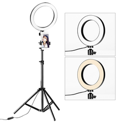 Dimmable Photo Studio LED Sefie Ring Light  for Makeup Youtube Live stream as picture 26cm led