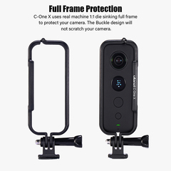 C-One X Camera Cage Protective Case Frame Shell Adapter for Insta 360 One X Camera Accessories as picture as picture