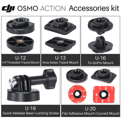 ULANZI Video Vlog Quick release Adapter and transfer parts Mount Tripod For DJI Osmo Action U12+U19 as picture