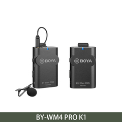 BOYA Wireless Studio Microphone System Lavalier Interview Mic for iPhone Canon Nikon Cameras BY-WM4 PRO K1 as picture