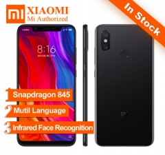 New  Xiaomi MI 8 4GB64GB Snapdragon S845 Octa Core Mobile Phone MIUI10 black