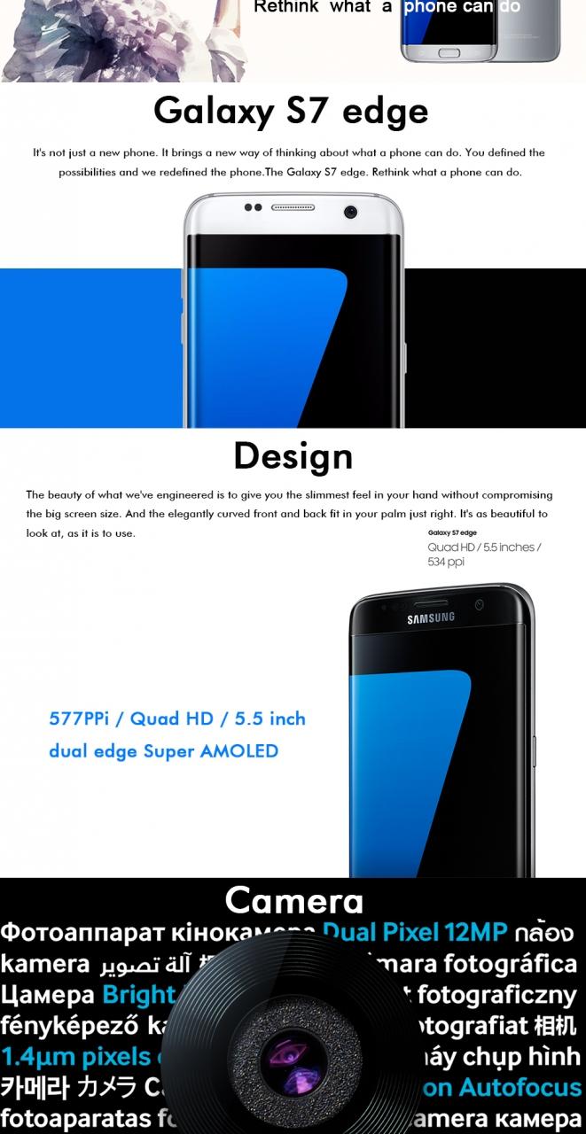 New Samsung Galaxy S7 Edge 4g Lte Mobile Phone 120 Mp 4gb Ram 32gb 128gb Absolute Black Qing Shop