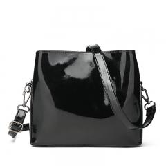 Women Fashion Shoulder Handbag PU Leather Female Messenger Bags Black 22*8*19.5 cm