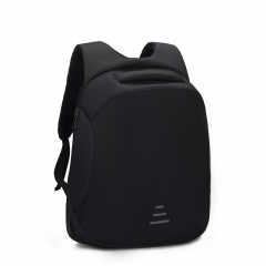 Backpacks Men USB Charge Laptop Backpack Anti theft Backpack Casual Waterproof Travel Bag Black 36*18*46 cm