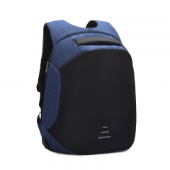 Backpacks Men USB Charge Laptop Backpack Anti theft Backpack Casual Waterproof Travel Bag Blue 46*32*17 cm