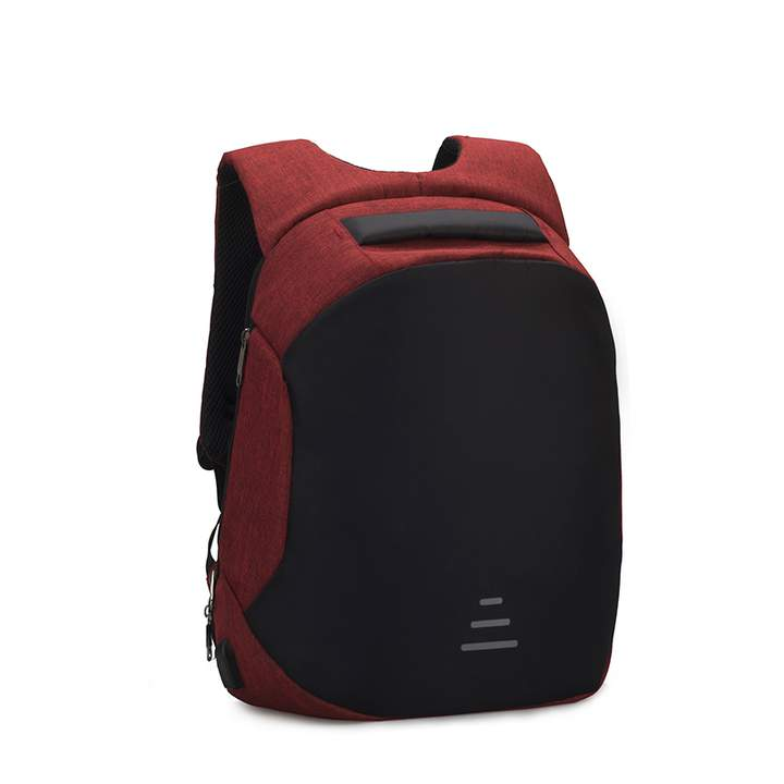 Backpacks Men USB Charge Laptop Backpack Anti theft Backpack Casual Waterproof Travel Bag Red 46*32*17 cm