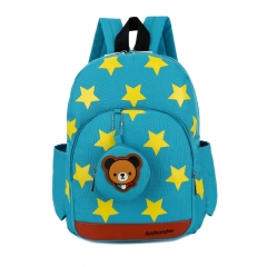 Cute Starts Printed Kids Bags Fashion Nylon Children Backpacks for Kindergarten School Backpacks GREEN
