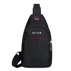 Women Bags Men Sling Bag  Women Men's Messenger Shoulder Chest Bag BLACK 17*8*29 cm