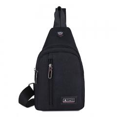 Versatile Canvas Sling Bags Chest Bag for Men Shoulder Crossbody Men's Bag black 18*10*30 cm