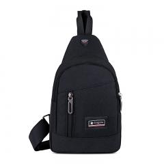 Men Women Single Sling Shoulder Strap Chest Pack Bag Travel Bag Shoulder Messenger Cross Body Bags black 18*5.5*30 cm