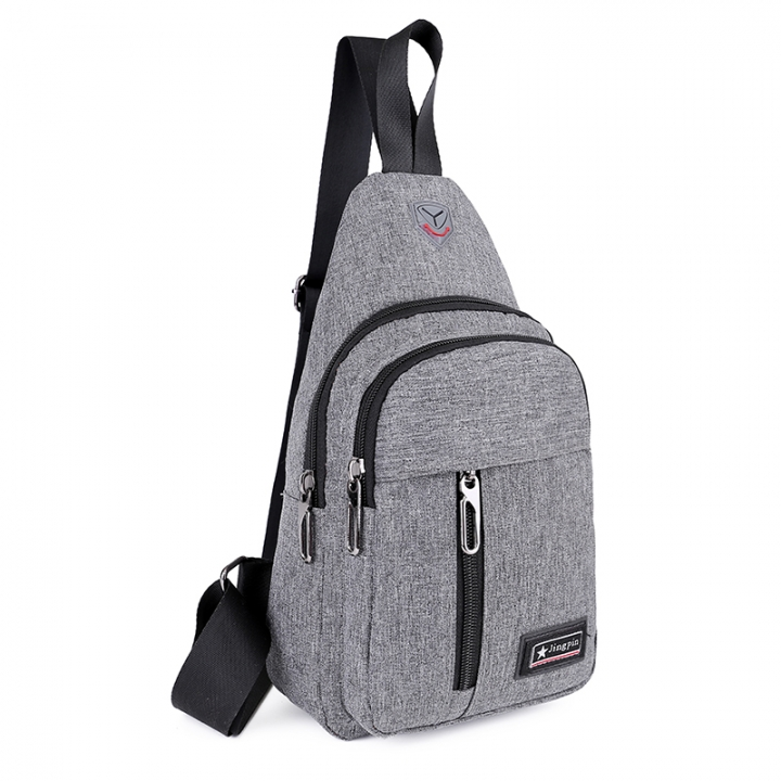 57f14d44c2 Men Shoulder Bag Brand Casual Chest Bag Waterproof Women Crossbody Sling  Bag grey 18 10 30 cm