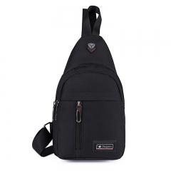 Men Shoulder Bag Brand Casual Chest Bag Waterproof Women  Crossbody Sling Bag black 18*10*30 cm