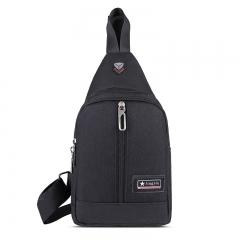 Canvas Shoulder Sling Bag Men Solid Color Casual Zipper Women Messenger Bags black 18*10*30 cm