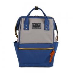 High quality Women Backpack Teenage Girls Leisure Bag Vintage Stylish School Bag Canvas Backpack BLUE 29*20*38cm