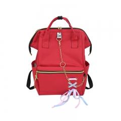 Canvas Student School Bags Backpacks For Teenage Girls Feminine Fashion Backpack Women Bookbag red 25*15*37cm