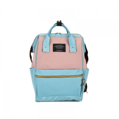 Women Canvas Backpack School bag For Girl Ladies Teenagers Casual Travel bags Schoolbag Backpack skyblue 29*20*38cm