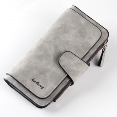 2018 Leather Women Wallet High Quality Design Hasp Card Bags Long Female Purse Ladies Clutch Wallet Gray one size