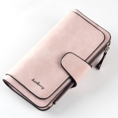 2018 Leather Women Wallet High Quality Design Hasp Card Bags Long Female Purse Ladies Clutch Wallet Light pink one size