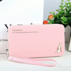 baellery Women's Purse Mobile Phone Bag Large Capacity Multifunctional Wallet Light pink one size