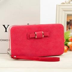 Women Purses Wallet Female Credit Card Holder Clutch Coin Purse Cellphone Pocket For Women Money Bag Carmine one size