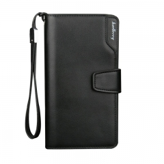Business wallets men's purse Multifunction Pockets Casual Clutch male purse Zipper phone bag wallet Black one size
