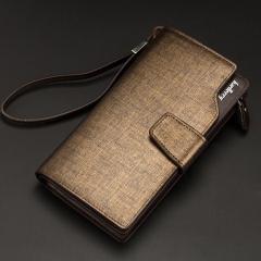 Business wallets men's purse Multifunction Pockets Casual Clutch male purse Zipper phone bag wallet Golden one size