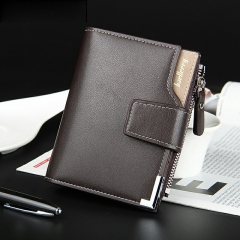 Leather men wallets purse short male clutch leather wallet mens money bag quality guarantee Coffee one size