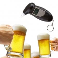 Digital Alcohol Breath Tester Breathalyzer Analyzer Detector Test Keychain black